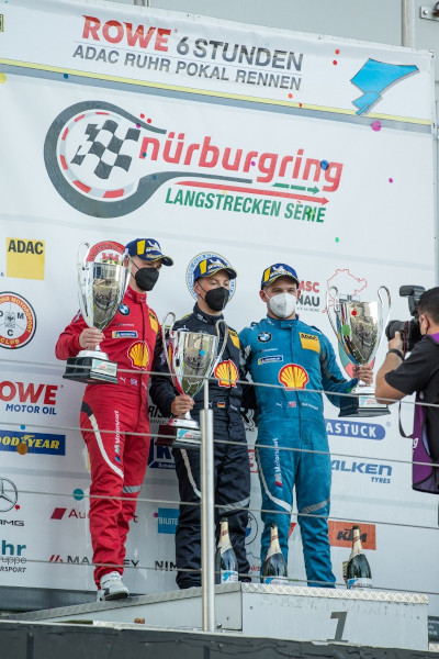 Nürburgring (GER), 10th-11th September 2021. BMW M Motorsport. Nürburgring Langstrecken-Serie, Nürburgring Endurance Series, NLS7, #44 BMW M6 GT3, BMW Junior Team, Neil Verhagen (USA), Dan Harper (GBR), Max Hesse (GER)