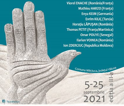 Expoziție a sculptorilor prezenți la cea de-a treia ediție a Taberei Internaționale de Sculptură în Piatră Măciuca, între 12–24 septembrie