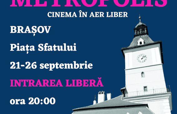 Caravana Metropolis – cinema în aer liber revine cu un nou sezon la Brașov, între 21 – 26 septembrie