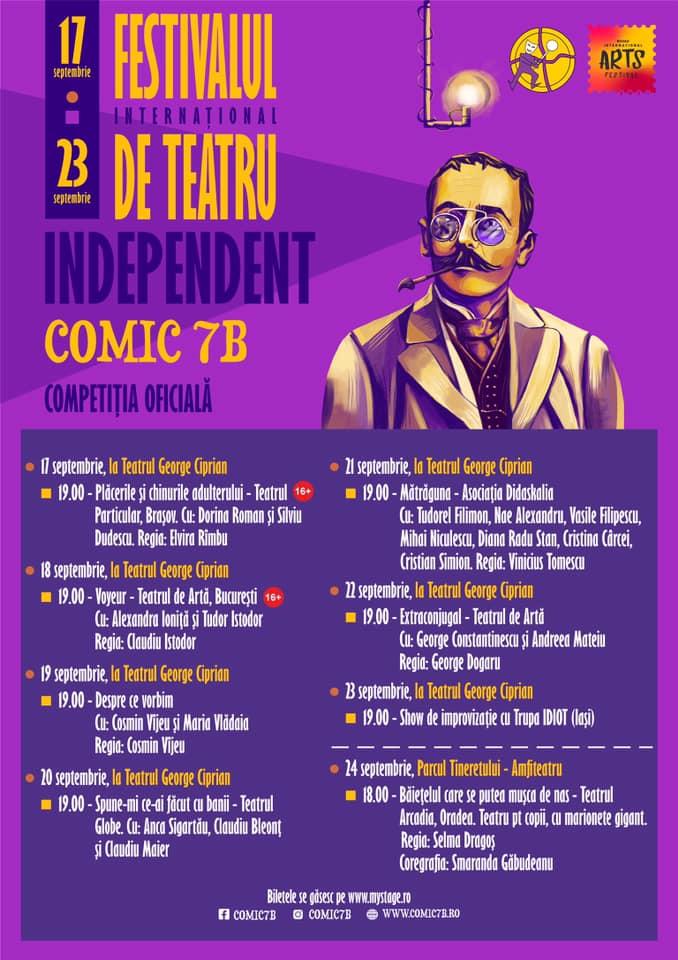 competiția de teatru Comic 7 B din cadrul Buzău Internațional Arts Festival
