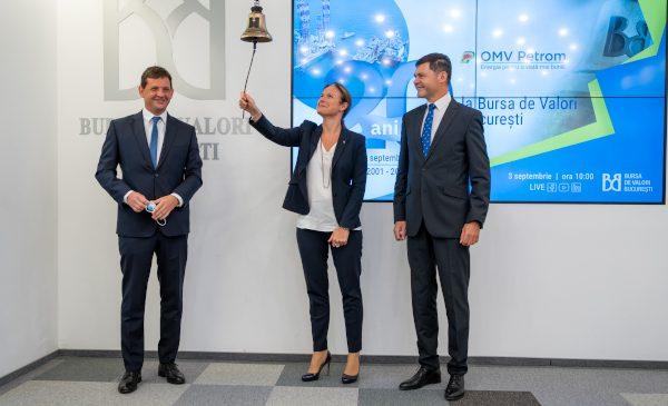 OMV Petrom aniversează 20 de ani de la listarea la Bursa de Valori București