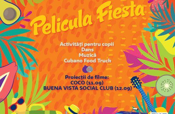 Mâine începe Película Fiesta – film, dans și muzică pe 11 și 12 septembrie, la Verde Stop Arena – Program și regulament de acces –