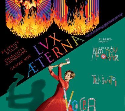 """""""Lux Æterna"""", cel mai nou film al lui Gaspar Noé, și """"Vocea umană""""/ """"The Human Voice"""", filmul lui Pedro Almodóvar cu Tilda Swinton, în cinema din 17 septembrie"""