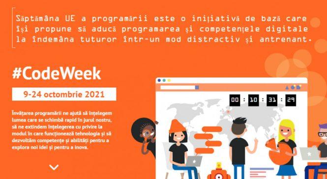 Echipe de tineri care scriu coduri din România vor concura pentru a obține titlul de câștigător al ediției din 2021 a Săptămânii UE a programării