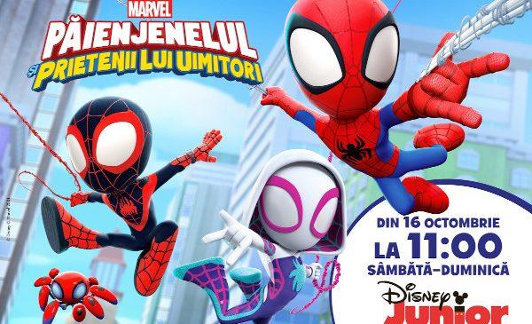 """Serialul """"Păienjenelul Marvel și prietenii lui uimitori"""" are premiera pe 16 octombrie la Disney Junior"""