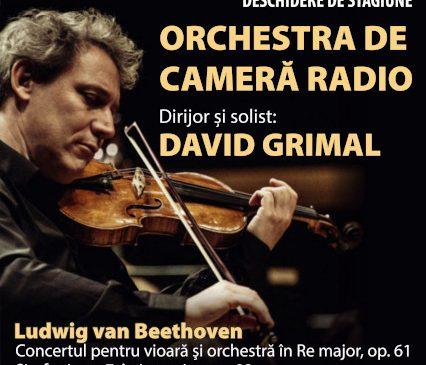 Celebrul violonist francez DAVID GRIMAL invitat la SALA RADIO, în deschiderea stagiunii ORCHESTREI DE CAMERĂ RADIO