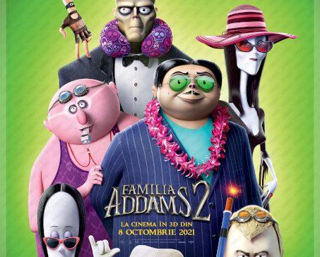 """""""The Addams Family 2/Familia Addams 2"""" un roadmovie exotic, o animație originală plină de aventuri stranii și umor bizar"""