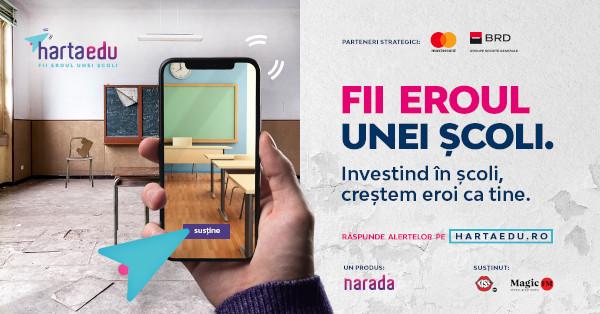 Peste 120 de alerte ale profesorilor prezente deja pe HartaEdu, platforma-voce a școlilor din România