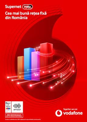 Vodafone Supernet Fibra certificarea pentru cea mai buna experienta de utilizare a internetului fix din Romania